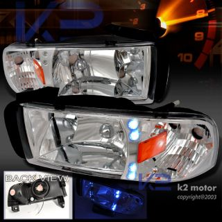 1994 2001 DODGE RAM 1500 LED SIGNAL HEADLIGHTS CHROME