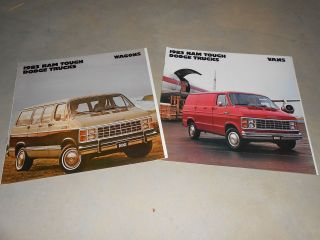 for 1 1983 DODGE RAM VAN & WAGON HUGE PRESTIGE BROCHURE, SALES