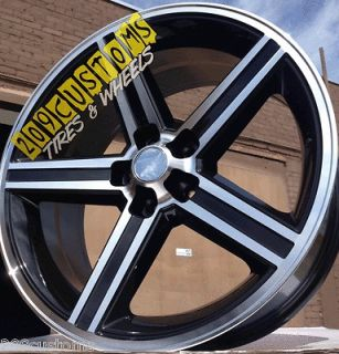 BLACK IROC WHEELS RIMS TIRES 5X127 22X95 ROADMASTER BUICK CHEVY 1500