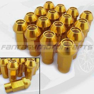 12X1.5MM GOLD LUG NUTS WHEEL NUT DODGE FORD CHRYSLER GD