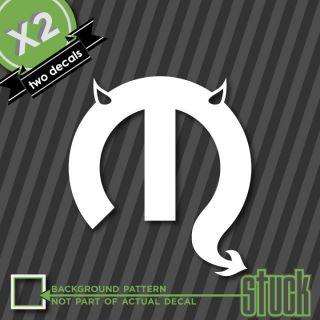 Mopar Devil Logo Emblem 2x   Vinyl Sticker Decal Evil Chrysler Racing