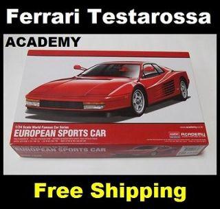 Ferrari Testarossa, CAR MODEL KIT 1/24 SCALE,Car Assemble Kit, Free