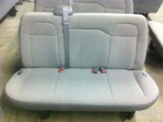 CHEVY EXPRESS GMC SAVANNA VAN GRAY CLOTH BENCH SEAT 3 THREE 03 12