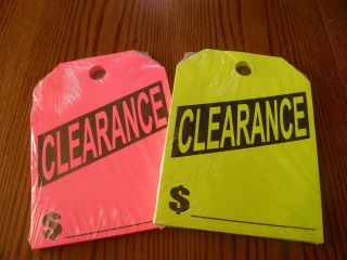 Auto Dealer Rear View Mirror Tags / Hanger 50 pack 9X12 in Clearance