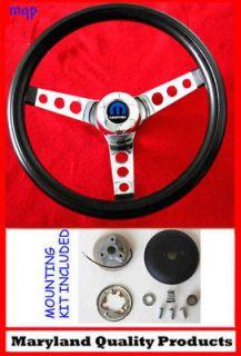 1970 76 Demon Dart Charger Demon Black Steering Wheel 13.5 13 1/2