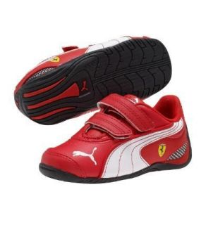 NEW PUMA FERRARI DRIFT CAT III L SF D V KIDS (INFANT) RED/BLACK SIZE 4