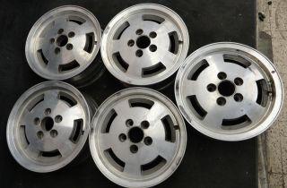15 x 6 Vintage MODERN Wheels Ford Dodge Slots alloy Mag AR rims 5x4