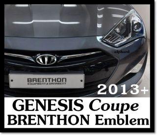 2013+ HYUNDAI GENESIS Coupe BRENTHON Black Emblem Complete Set 7pcs