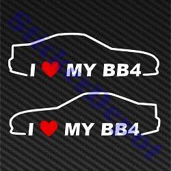HEART MY BB4 STICKER VINYL DECAL 7X2 LOVE HONDA PRELUDE