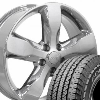 20 Jeep Grand Cherokee Chrome Wheels Set of 4 OEM 9107 Rims and LT