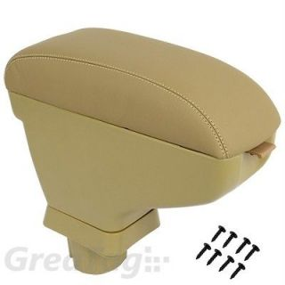 09 11 NISSAN VERSA TIIDA BEIGE LEATHERETTE CENTER STORAGE CONSOLE