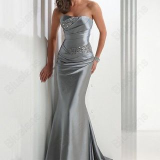 Noble Prom Formal Gown Ball Bridesmaid Party Evening Wedding Slim
