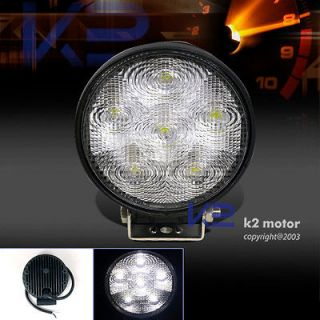 6000K WHITE LED OFFROAD 4X4 SUV 4.5 ROUND WORK LIGHT FOG BUMPER LAMPS