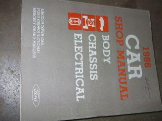1986 Lincoln Town Car Service Shop Repair Manual OEM FACTORY BOOK 86