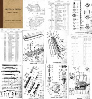ROLLS ROYCE GRIFFON 74 AERO ENGINE ILLUSTRATED PARTS MANUAL