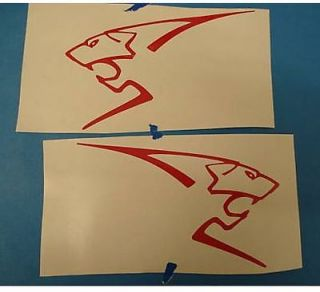RED PEUGEOT Lions Vinyl Car Sticker Decals 206 106 Directional
