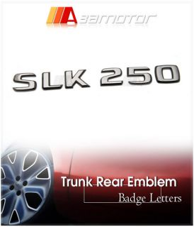 Mercedes Benz R172 Black Chrome Emblem Letter SLK250
