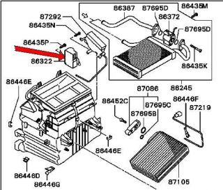 2002 2003 Mitsubishi Galant Heater Control Motor MR958603