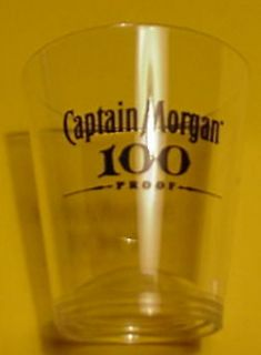 Captain Morgan Rum 100 Proof Plastic Shot Glass.NEW