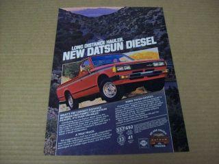 1981 Datsun Diesel Pickup Truck Advertisement, Vintage Ad