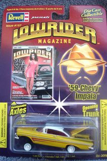 1959 CHEVY IMPALA LOWRIDER MAGAZINE REVELL 1/64 SCALE NEW