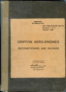 ROLLS ROYCE GRIFFON AERO ENGINE RECONDITIONING & SALVAGE MANUAL