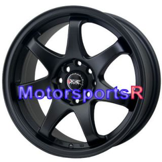 522 Flat Black Concave Rims Wheels 4x100 03 04 05 06 Scion xA xB E30
