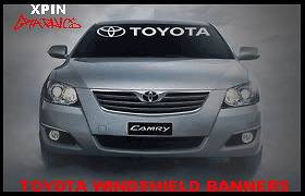 TOYOTA Windshield Banner Decal Vinyl Sticker TRD Corolla Camry Tundra