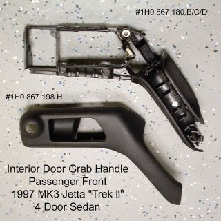 VW MK3 Jetta Golf Door Pull Grab Handle 93 98 PF 1H0867198H 1H0867180B