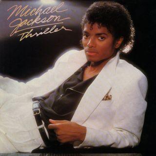 JACKSON Thriller QE38112 VG LP Vinyl Record Album 1982 Original MINT