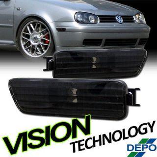 2002 Cabrio Black Depo Front Bumper Lights (Fits 2004 Volkswagen R32