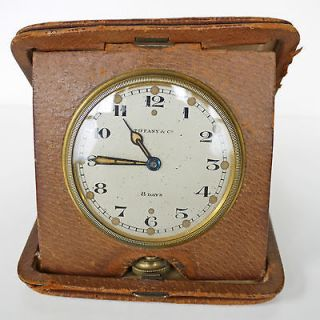 Tiffany & Co Antique 8 Day Travel Clock Elgin National Watch Co Circa