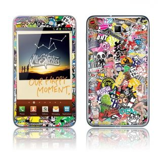 Samsung Galaxy Note Skin Sticker Kit Sticker Bomb v1