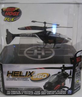 Air Hogs R/C Remote Control Black Helicopter Helix 360 Adrenaline