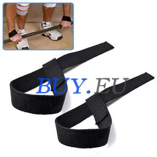 Bodybuilding Exercise Weight Lifting Hand Wrist Support Strap Black