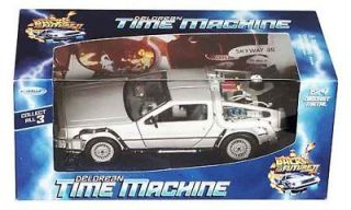 DELOREAN BACK TO THE FUTURE PART 2 1:24 DIECAST MODEL MICHAEL J. FOX