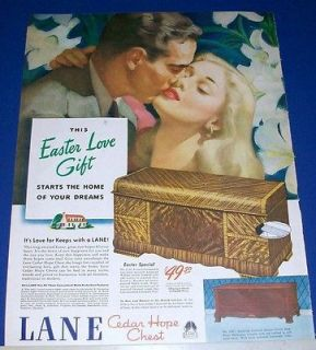 1946 Lane Cedar Hope Chest Easter Love Gift Ad