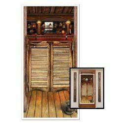 WILD WEST COWBOY COUNTRY WESTERN SALOON DOOR COVER SCENE SETTER PARTY