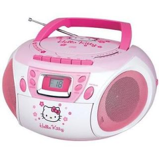 Hello Kitty Stereo AM/FM/CD Radio Boombox with Cassette Player/Recorde