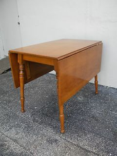 antique maple drop leaf table