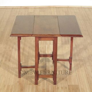 Antique English Mahogany Dropleaf Gateleg Coffee Table c1949 p09
