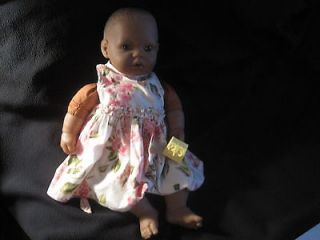 Berenguer African American Baby Doll with yellow dummy\pacifier
