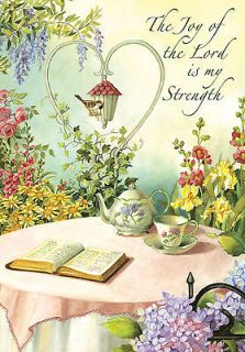 THE LORD is my STRENGTH BiBLe CUP of TEA Devotion 0612 New Large Flag