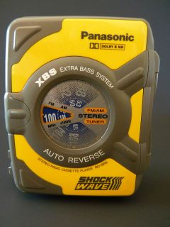 Panasonic AM FM Radio Cassette Player Walkman Shock Wave RQ SW6 Auto