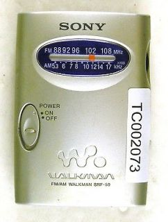 Sony SRF 59 Walkman FM AM Radio