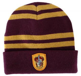 HARRY POTTER Gryffindor House Beanie Costume Adult Kids Crest Badge