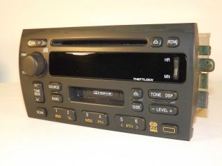 2000 2001 Cadillac Catera AM FM Cassette CD Car Radio   Part 09354796