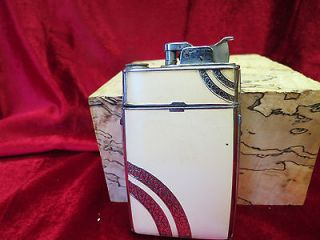 VINTAGE RONSON CIGARETTE CASE WITH LIGHTER USED AND WORKING