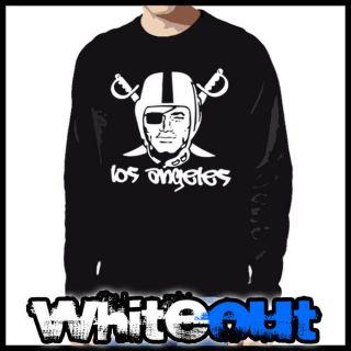Los Angeles Raiders Crewneck tank top Sweater Sweat SHirt Bo Jackson