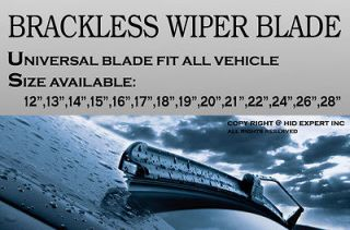18 (457mm) J or U Hook Direct Replace Racing Style Windshield WIPER